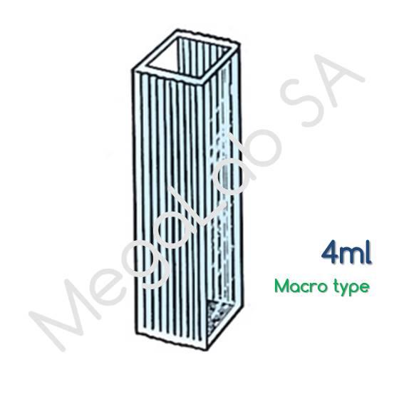 Κιουβέτες τετράγωνες πλαστικές, macro, όγκου 4ml.