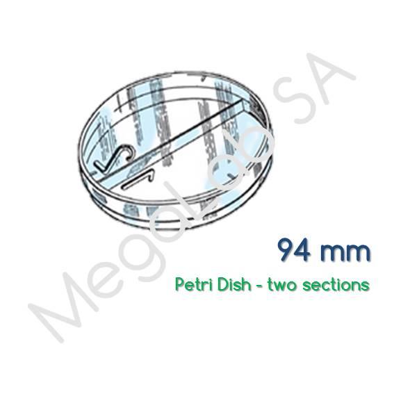 Τρυβλία στρογγυλά (Petri Dish), διχοτομημένα, διαμέτρου 94mm.