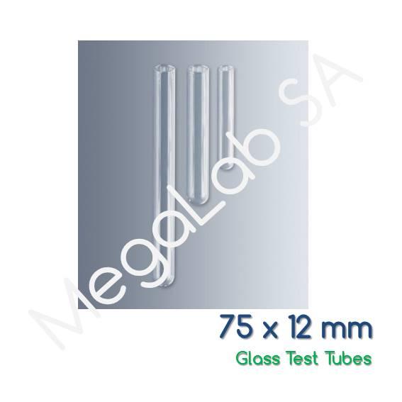 Γυάλινοι δοκιμαστικοί σωλήνες χωρίς χείλος, soda lime glass, πάχους 0,6mm, με κυλινδρικό πυθμένα.