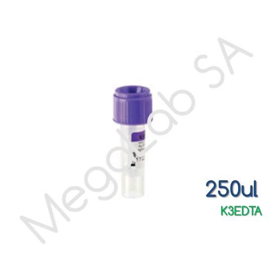 Παιδιατρικά Σωληνάρια  Micro Test Tube, με βιδωτό πώμα, K3EDTA, όγκος 250μl.