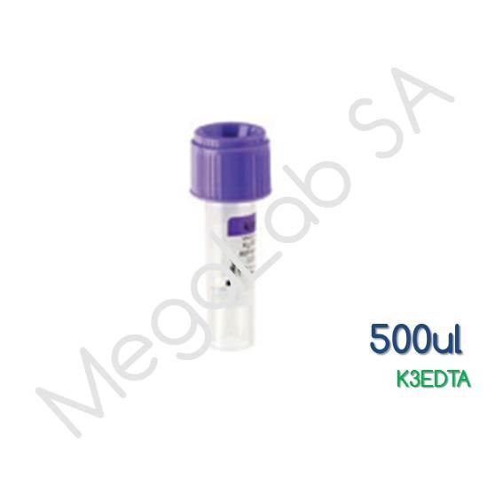 Παιδιατρικά Σωληνάρια  Micro Test Tube, με βιδωτό πώμα, K3EDTA, όγκος 500μl.