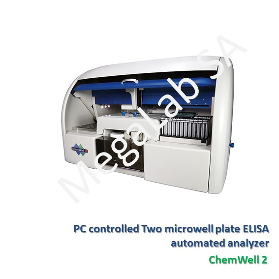 PC controlled Two microwell plate ELISA automated analyzer