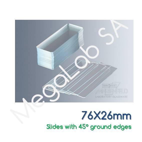 Αντικειμενοφόρες πλάκες 76x26mm, τροχισμένες, χωρίς εσμύρισμα, κομμένες άκρες στις 45°.