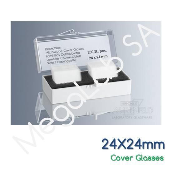 Καλυπτρίδες 24x24mm, πάχους No. 1 (0.13-1.16 mm).