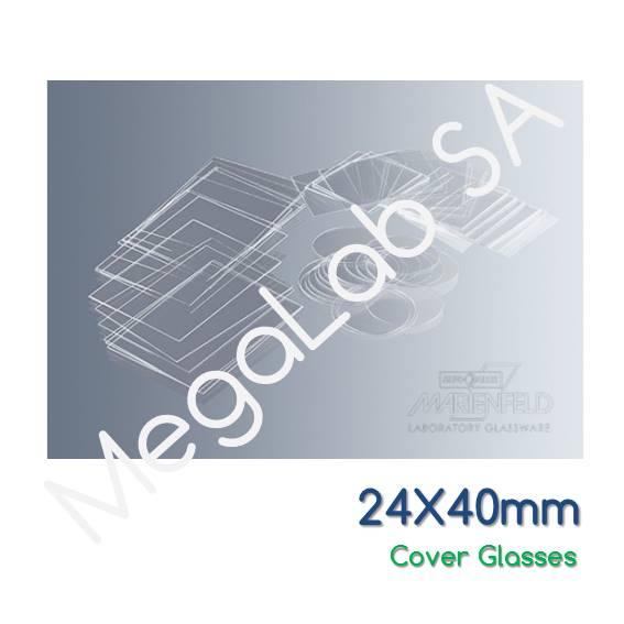 Καλυπτρίδες 24x40mm, πάχους No. 1 (0.13-1.16mm).