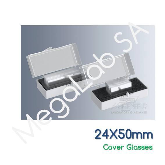 Καλυπτρίδες 24x50mm, πάχους No. 1 (0.13-1.16mm).