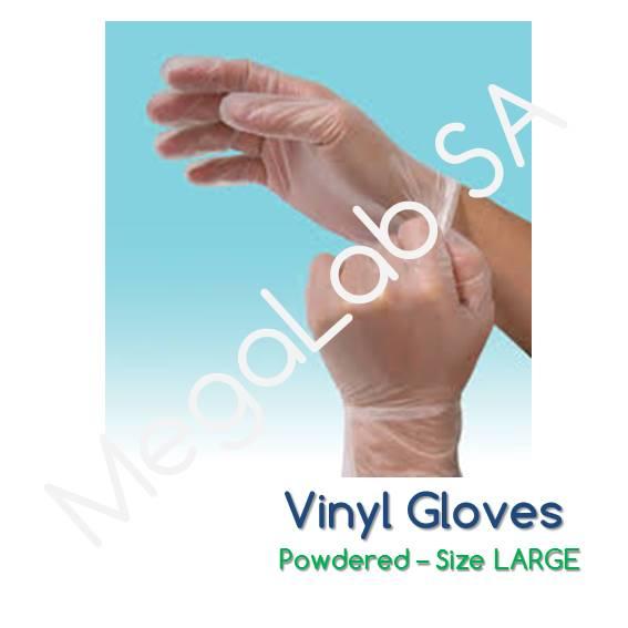 Γάντια βινυλίου, με πούδρα, large